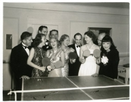 Mary Pickford, Buddy Rogers, Myrna Loy, Loretta Young and friends at a Hollywood party - 1935