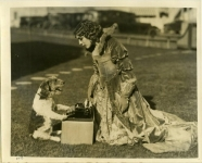 Mary Pickford, in costume for Dorothy Vernon of Haddon Hall, with Zorro - 1924