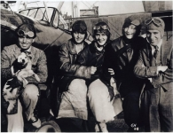 Mary Pickford, Douglas Fairbanks, Charlie Chaplin & friends go for a plane ride - 1920 (ca.)