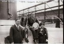 Mary Pickford and Douglas Fairbanks embark on their European honeymoon - 1920