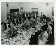 Mary Pickford, Douglas Fairbanks, Buster Keaton, Charlie Chaplin and others at a dinner party for Joseph Schenck - 1925
