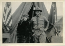 Mary Pickford at Army boot camp - 1918