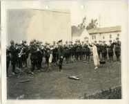 Mary Pickford conducts the Canadian Northwestern Veterans Band - 1925 (ca.)