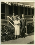 Imperial Potentate James C. Burger of the Shrine visits Mary Pickford and Douglas Fairbanks, just after his election at Los Angeles - 1925