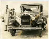 Mary and Doug and their new Ford - 1925