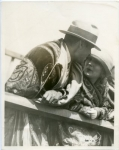 Mary Pickford and Douglas Fairbanks at the filming of the Ben-Hur chariot races in Culver City - 1924