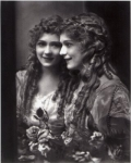 Mary Pickford portrait in mirror - 1914