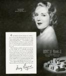 1938 - Mary Pickford Cosmetics advertisement