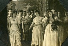Mary Pickford and cast in Behind the Scenes - 1914