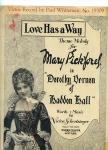 "1924   - ""Love Has a Way"" sheet music"