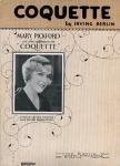 """1929  - """"Coquette"""" sheet music"""