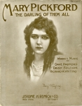 """1914  - """"Mary Pickford the Darling of Them All"""" sheet music"""