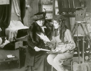 Mary and Charlotte on the Poor Little Rich Girl set, 1916