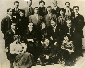 The IMP company, with Mary Pickford, Owen Moore, Charlotte, Jack and Lottie Pickford