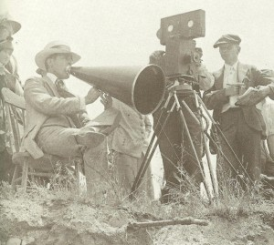D.W. Griffith, Billy Bitzer (behind camera) and Karl Brown