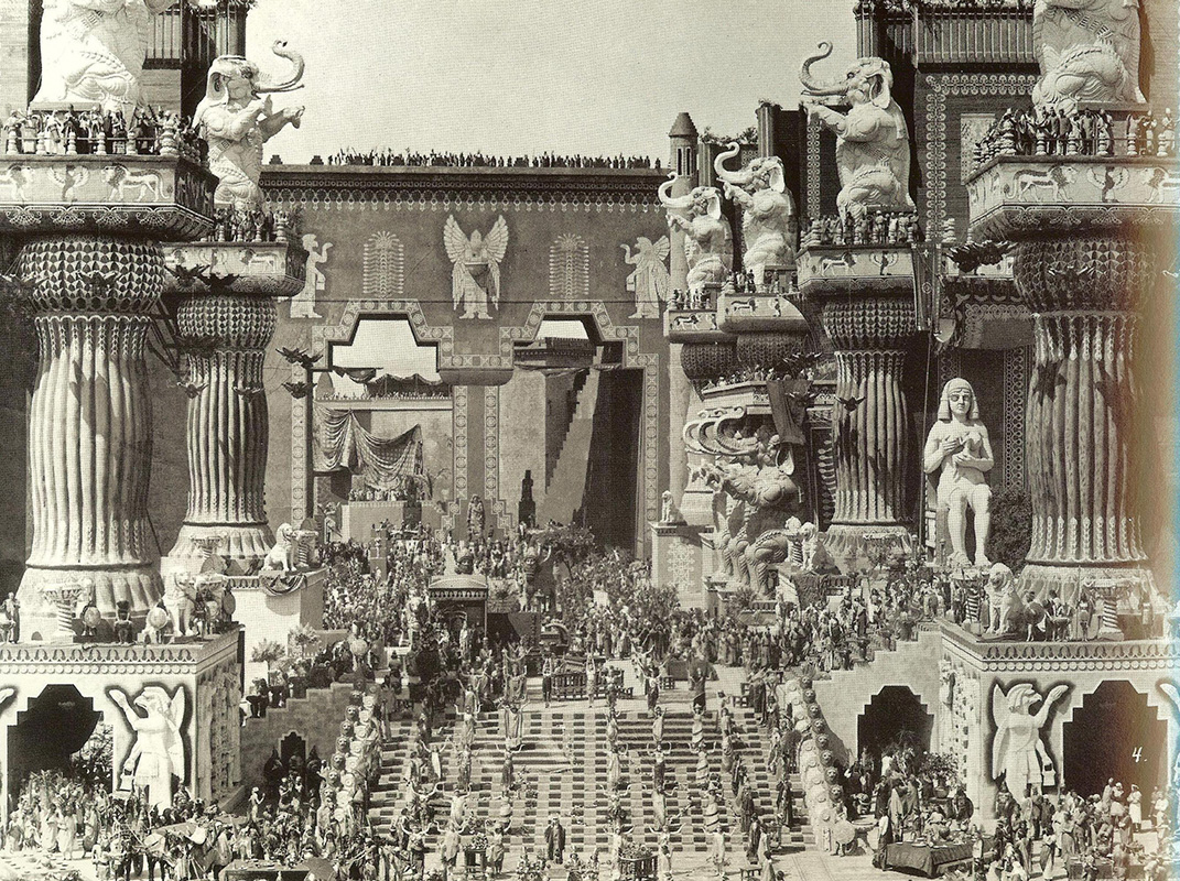 Griffith's Intolerance set, 1916