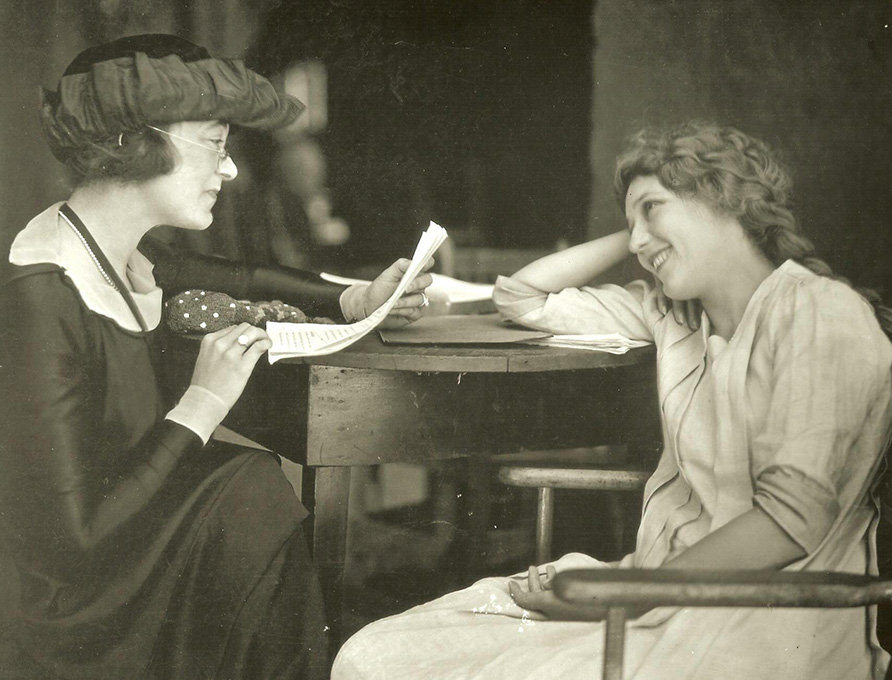 Frances Marion and Mary Pickford