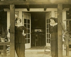 Mary and Charlotte Pickford in Hollywood, 1915