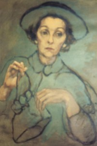 Painting of ZaSu by Frances Marion from the early 1950s