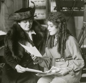 Mary Pickford and Charlotte on set of Poor Little Rich Girl (1916)