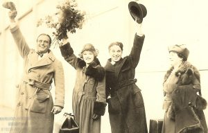 Douglas Fairbanks, Mary Pickford, Charlie Chaplin and Charlotte Hennessey Pickford