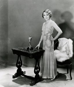 Mary Pickford and her Oscar