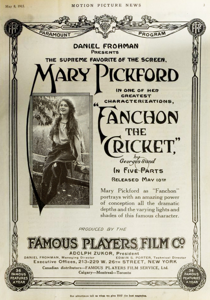 Fanchon the Cricket Poster