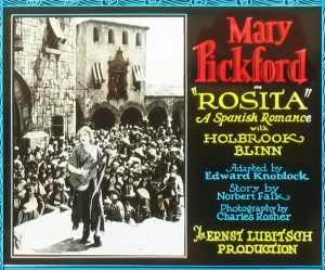 "Mary Pickford ""Rosita"" - Glass slide poster"