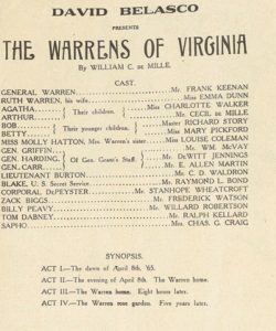 The Warrens of Virginia Playbill