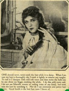 Mary Pickford - Advice on Hair Care