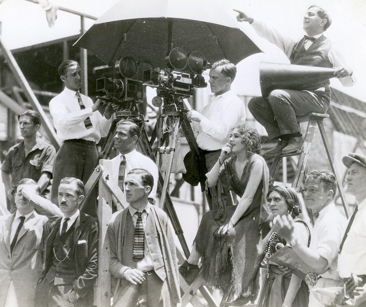 Rosita - Candid on set photo with Mary Pickford and Ernst Lubitsch