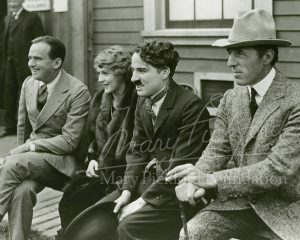Douglas Fairbanks, Mary Pickford, Charlie Chaplin and DW Griffith