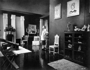 Greenman in her studio, 1954