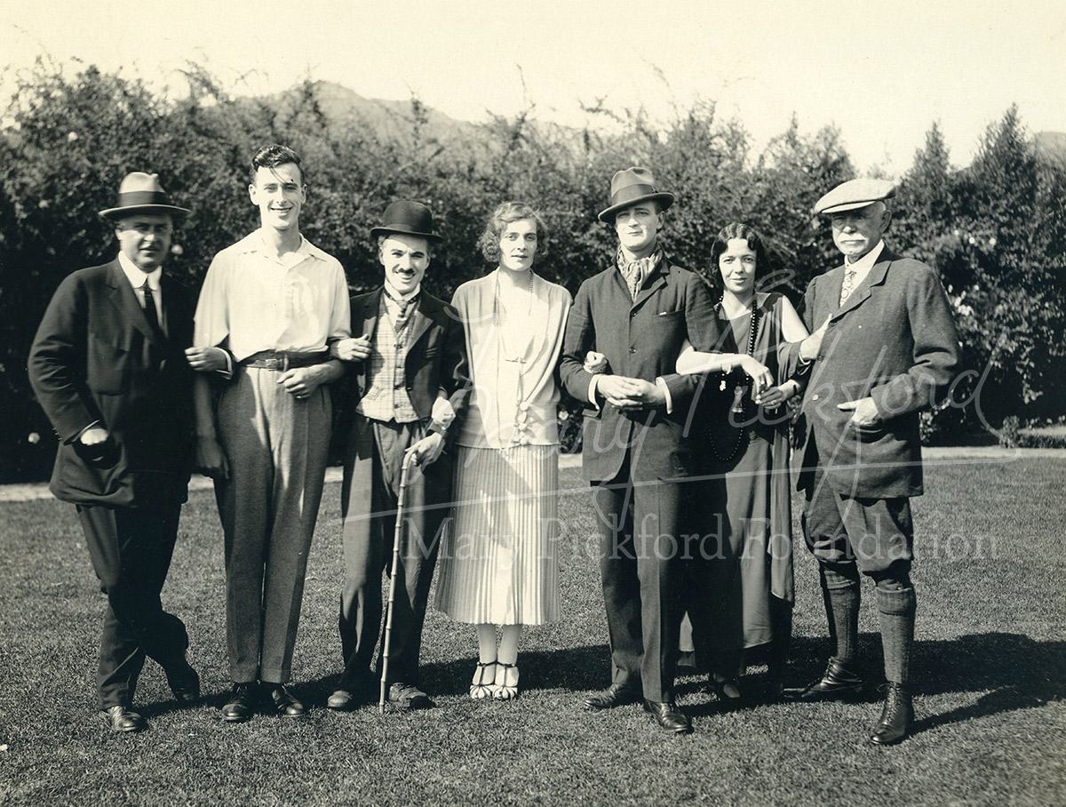 "Dickie, Charlie and Edwina with some of the ""cast"" of Nice and Friendly (1922)"