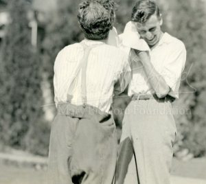 Chaplin & Dickie Mountbatten (1922)