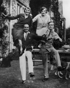 Mary and Doug with the Mountbattens at Adsdean, their country house on Sussex Downs (1924)