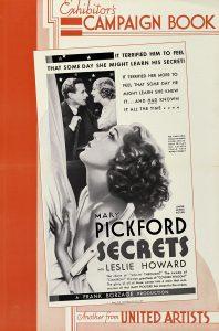 Secrets (1933) Pressbook