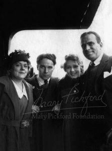 Charlotte Hennessey Pickford, Charlie Chaplin, Mary and Doug Fairbanks