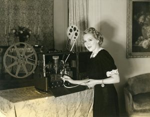 Mary with Film Projector