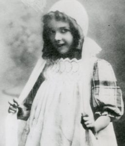 Mary on stage as a child